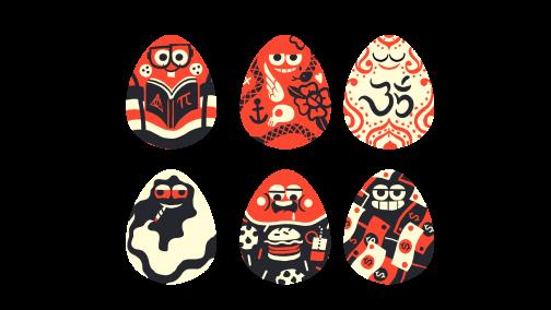 Huevos Personajes Juego Poh!