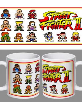 Tazón Retro Street Fighter