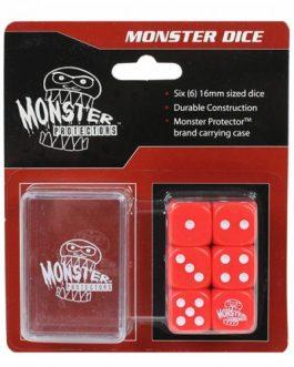 Dados Monster Protectors Set de 6 Rojo