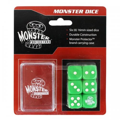 Dados Monster Protectors Set de 6 Verde