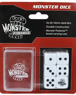 Dados Monster Protectors Set de 6 Blanco