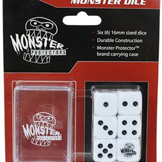 Dados Monster Protectors Set de 6 Blanco