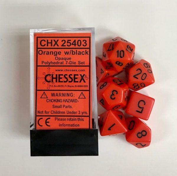 Dados Chessex Polyhedral : Naranja Opaco