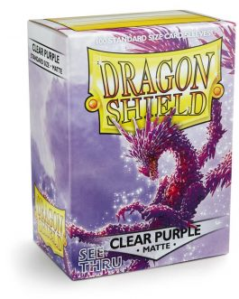Protectores Dragon Shield MATTE Clear Purple (Transparente)