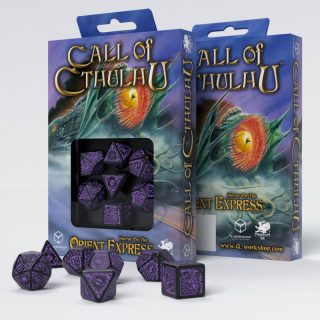 Call of Cthulhu Horror on the Orient Express Black & purple set de 7 Dados