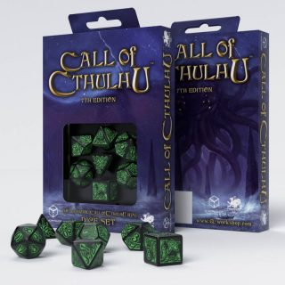 Call of Cthulhu 7th Edition Black & green Set de 7 Dados