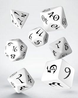 Classic RPG White & black Set de 7 Dados