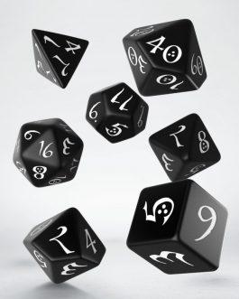 Classic RPG Black & white Set de 7 Dados