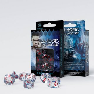 Classic RPG Translucent & blue-red set de 7 Dados