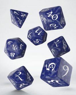 Classic RPG Cobalt & white Set de 7 Dados
