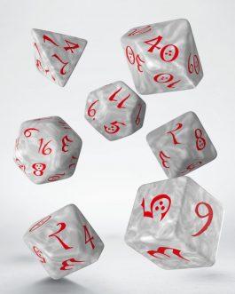 Classic RPG Pearl & red set de 7 dados