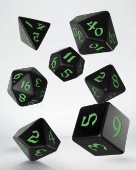 Classic Runic Black & green Set de 7 Dados