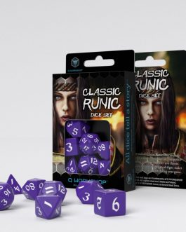 Classic Runic Purple & white Set de 7 Dados