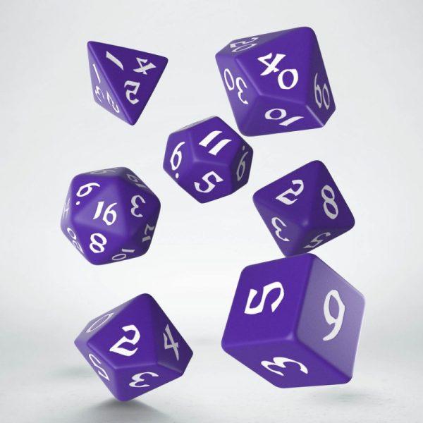 Classic Runic Purple & white Set de Dados