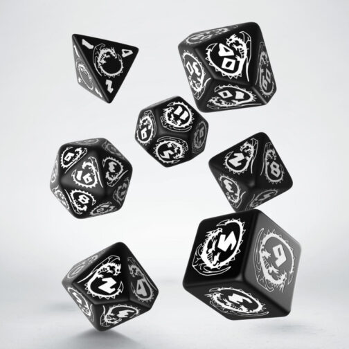 Dragons Black & white Set de 7 Dados
