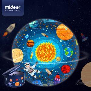 Puzzle Redondo Explorando el Espacio