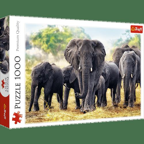 Puzzle 100 piezas Elefantes africanos