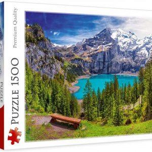Puzzle 1000 piezas Lago Oeschine, Alpes, Suiza