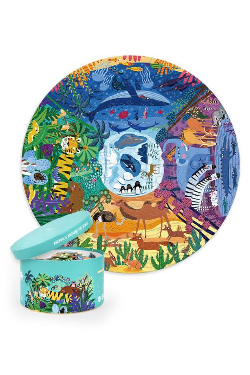 Puzzle Redondo Animales del Mundo