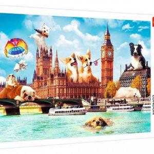 Puzzle 1000 piezas Perros en Londres