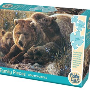 Puzzle 350 piezas Grizzly Family